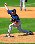 16 March 2009: Washington Nationals' pitcher Garrett Mock on the mound during a Spring Training game against the Florida Marlins at Roger Dean Stadium in Jupiter, Florida. The Nationals defeated the Marlins 3-1 in the Grapefruit League matchup. Mandatory Photo Credit: Ed Wolfstein Photo