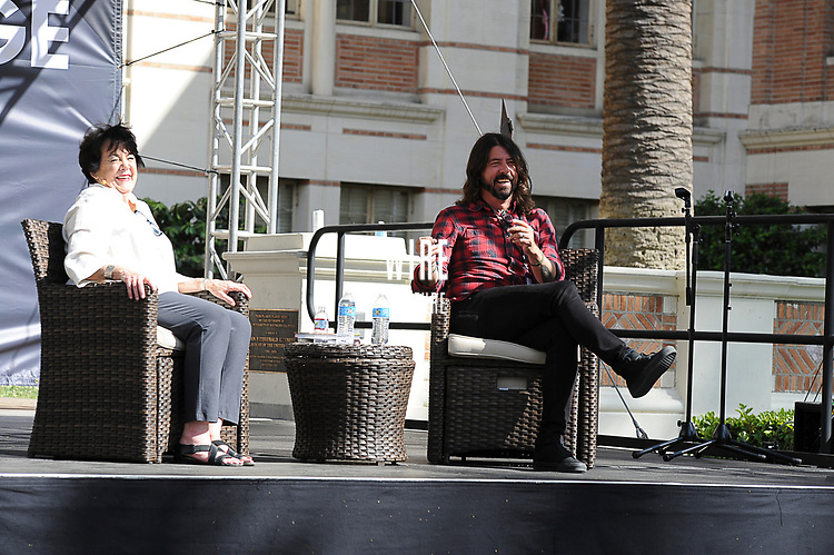 Veronica Grohl interviewed by her son Dave Grohl, at the Los Angeles Times Festival of Books held at USC in Los Angeles, California on Saturday, April 22, 2017