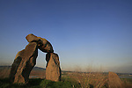 Israel, Harod valley. Berny Fink's ''Gateway to the Valley'' sculpture by Tel Jezreel