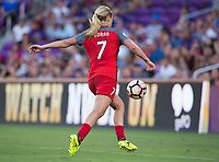 Orlando, FL - Saturday October 14, 2017: Lindsey Horan during the NWSL Championship match between the North Carolina Courage and the Portland Thorns FC at Orlando City Stadium.   The Portland Thorns won the championship, 1-0.