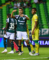 PALMIRA-COLOMBIA-26-01-2019: Juan Dinenno, de Deportivo Cali, durante partido de la fecha 1 entre Deportivo Cali y Atlético Bucaramanga, por la Liga Aguila I 2019, jugado en el estadio Deportivo Cali (Palmaseca) en la ciudad de Palmira. / Juan Dinenno, of Deportivo Cali, during a match of the 1st date between Deportivo Cali and Atletico Bucaramanga, for the Liga Aguila I 2019, at the Deportivo Cali (Palmaseca) stadium in Palmira city. Photo: VizzorImage  / Nelson Ríos / Cont.