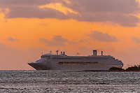 "P&O Cruises ship ""Pacific Jewel"" sailing off of Noumea, Grand Terre, New Caledonia"