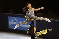 November 19, 2005; Paris, France; Figure skating stars QING PANG and JIAN TONG of China skate to silver in pairs at Trophee Eric Bompard, ISU Paris Grand Prix competition.  They are pairs favorites for medals leading up to Torino 2006 Olympics.<br />Mandatory Credit: Tom Theobald/ <br />Copyright 2005 Tom Theobald