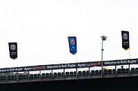 A general view of Bath Rugby flags at the Recreation Ground. Gallagher Premiership match, between Bath Rugby and Exeter Chiefs on October 5, 2018 at the Recreation Ground in Bath, England. Photo by: Patrick Khachfe / Onside Images