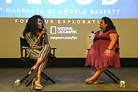 """WEST HOLLYWOOD - APRIL 22: Actress Angela Bassett and Jenelle Riley attend an FYC screening and Q&A for National Geographic's """"The Flood"""" at SilverScreen Theater on April 22, 2019 in West Hollywood, California. (Photo by Vince Bucci/National Geographic/PictureGroup)"""