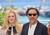 CANNES, FRANCE. May 14, 2019: Elle Fanning &amp; Alejandro Gonzalez Inarritu at the photocall for Jury at the 72nd Festival de Cannes.<br /> Picture: Paul Smith / Featureflash