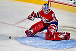 31 January 2009: Montreal Canadiens' goaltender Carey Price in action during the first period against the Los Angeles Kings at the Bell Centre in Montreal, Quebec, Canada. The Canadiens defeated the Kings 4-3. ***** Editorial Sales Only ***** Mandatory Photo Credit: Ed Wolfstein Photo