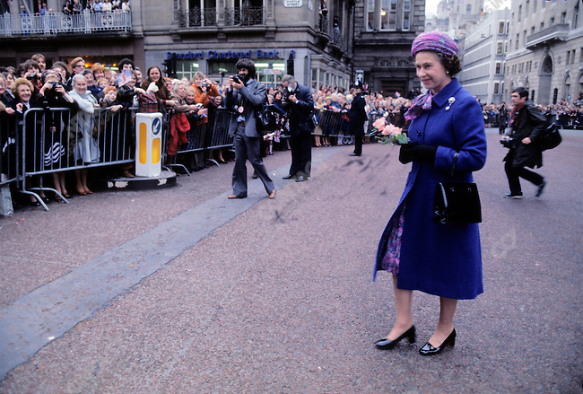 Queen Elizabeth II, ceremony marking the completion of  the Liverpool Cathedral, Liverpool, UK, October 25, 1978
