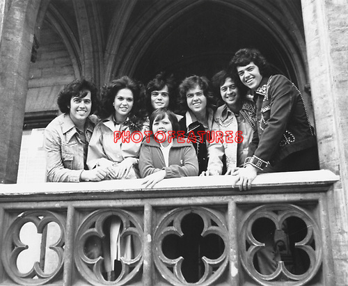 Osmonds 1975 in Europe.© Chris Walter.