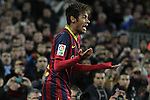 14.12.2013. Barcelona, Spain. La Liga, day 16. Picture show Neymar da Silva Santos Júnior   in action during match between FC Narcelona against Villareal at Camp Nou