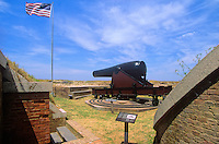 15 inch Radman Cannon at Fort Massachusetts on Ship Island, Gulf Islands National Seashore, Gulfport, Mississippi, AGPix_0639..
