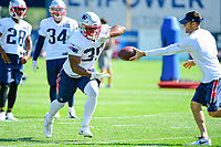 July 28, 2017: New England Patriots running back LeShun Daniels Jr (39) does a drill at the New England Patriots training camp held at Gillette Stadium, in Foxborough, Massachusetts. Eric Canha/CSM