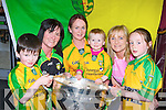 John Horgan, Killorglin, Annette Horgan Killorglin, Maggie Doherty, Erin Doherty Kilcummin, Noreen and Emma Kelly Killarney Donegal exiles who live in Kerry with the Sam Maguire in Scotts bar Killarney on Saturday evening..