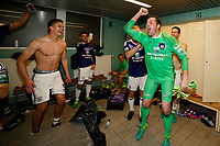 Joie : RSC Anderlecht - Champion saison 2016 2017<br /> Vestiaire  Leander Dendoncker midfielder of RSC Anderlecht and Frank Boeckx goalkeeper of RSC Anderlecht celebrate winning the campionship in the dressing room after the Jupiler Pro League Play-Off 1 match  <br /> Anderlecht Campione del Belgio <br /> Jupiter League 20162017 <br /> Foto PhotoNews/Panoramic/Insidefoto<br /> ITALY ONLY