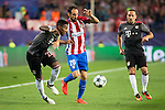Atletico de Madrid's player Juanfran Torres and Bayern Munich's player David Alaba and Franck Ribery during match of UEFA Champions League at Vicente Calderon Stadium in Madrid. September 28, Spain. 2016. (ALTERPHOTOS/BorjaB.Hojas)
