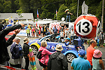 The publicity caravan FDJ passes by during Stage 16 of the 2018 Tour de France running 218km from Carcassonne to Bagneres-de-Luchon, France. 24th July 2018. <br /> Picture: ASO/Bruno Bade | Cyclefile<br /> All photos usage must carry mandatory copyright credit (© Cyclefile | ASO/Bruno Bade)