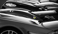 "Ferrari. Title: ""Exercise in black White and Yellow"""