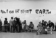 October 1970. Teenagers and members of the East Harlem Federation Youth Association socializing at a youth center in New York in 1970.