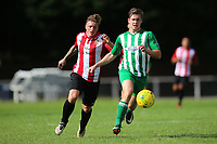 George Purcerll of Hornchurch during AFC Hornchurch vs Soham Town Rangers, Bostik League Division 1 North Football at Hornchurch Stadium on 12th August 2017