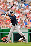 22 July 2012: Atlanta Braves third baseman Chipper Jones in action against the Washington Nationals at Nationals Park in Washington, DC. The Braves fell to the Nationals 9-2 splitting their 4-game weekend series. Mandatory Credit: Ed Wolfstein Photo