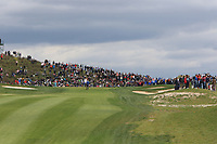 A crowd surrounding the 1st green during Round 4 of the Open de Espana 2018 at Centro Nacional de Golf on Sunday 15th April 2018.<br /> Picture:  Thos Caffrey / www.golffile.ie<br /> <br /> All photo usage must carry mandatory copyright credit (&copy; Golffile | Thos Caffrey)