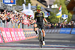 Esteban Chaves (COL) Mitchelton-Scott wins solo Stage 19 of the 2019 Giro d'Italia, running 151km from Treviso to San Martino di Castrozza, Italy. 31st May 2019<br /> Picture: Massimo Paolone/LaPresse | Cyclefile<br /> <br /> All photos usage must carry mandatory copyright credit (© Cyclefile | Massimo Paolone/LaPresse)