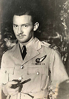 BNPS.co.uk (01202 558833)<br /> Pic:  DavidLay/BNPS<br /> <br /> Flight Sergeant Douglas Alexander later in the war.<br /> <br /> Bomber command heroes WW2 exploits discovered in a shoebox.<br /> <br /> The personal effects of a fearless 'Tail-end Charlie' have been discovered in a shoebox - and they include a charming set of photos of his wartime service.<br /> <br /> Flight Sergeant Douglas Alexander, of 460 Squadron, took part in nearly 40 bombing raids over Germany, including the famous assault on Hitler's mountain retreat, Berchtesgaden.<br /> <br /> As a tail gunner, he sat in a tiny glass turret at the rear of Lancaster and Halifax bombers - a terribly exposed position.<br /> <br /> The shoebox, containing his bravery medals, logbooks and photos, was bought into auctioneer David Lay Frics, of Penzance, Cornwall, by his daughter.<br /> <br /> Flt Sgt Alexander's medal group includes the prestigious Distinguished Flying Medal, awarded for 'exceptional valour, courage and devotion to duty', with his photos capturing the camarederie which existed in the RAF as the airmen risked their lives on every mission to defeat Adolf Hitler.