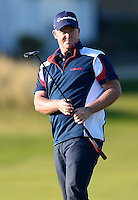 Marcus Fraser of Australia watches a putt during Round 2 of the 2015 Alfred Dunhill Links Championship at the Old Course, St Andrews, in Fife, Scotland on 2/10/15.<br /> Picture: Richard Martin-Roberts | Golffile