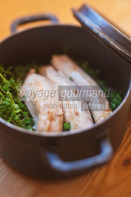 Europe/France/Rhone-Alpes/73/Savoie/ Val-Thorens: Rable de lapin infusé au serpolet,Recette de Jean Sulpice du  restaurant restaurant L'Oxalys,