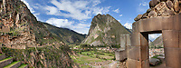 Inca ruins of Ollantaytambo in the Sacred Valley, Peru, South America.