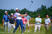 Jon Rahm (ESP) watches his tee shot on 17 during the Wednesday practice day of the 117th U.S. Open, at Erin Hills, Erin, Wisconsin. 6/14/2017.<br /> Picture: Golffile | Ken Murray<br /> <br /> <br /> All photo usage must carry mandatory copyright credit (&copy; Golffile | Ken Murray)