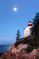Bass Harbor Light overlooking the Atlantic Ocean, Bass Harbor, Acadia National Park, Hancock County, Maine, USA