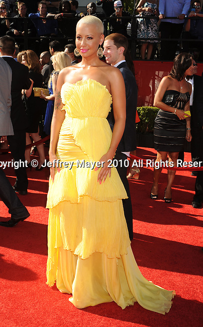 LOS ANGELES, CA. - July 14: Amber Rose arrives at the 2010 ESPY Awards at Nokia Theatre L.A. Live on July 14, 2010 in Los Angeles, California.