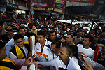 The Queen's Baton Relay spent the day in the state of Uttarakhand in northern India. This Queen's Baton Relay will engage with all 70 nations and territories of the Commonwealth, over 388 days and cover 230,000km. It will be the longest Relay in Commonwealth Games history, finishing at the Opening Ceremony on the Gold Coast on 4th April 2018. Photograph shows crowds and dignitaries welcoming the Baton to the town of Nainital as the Queen's Baton Relay visited the hill station.