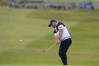 Zander Lombard (RSA) chips onto the 18th green during Sunday's Final Round of the Dubai Duty Free Irish Open 2019, held at Lahinch Golf Club, Lahinch, Ireland. 7th July 2019.<br /> Picture: Eoin Clarke | Golffile<br /> <br /> <br /> All photos usage must carry mandatory copyright credit (© Golffile | Eoin Clarke)