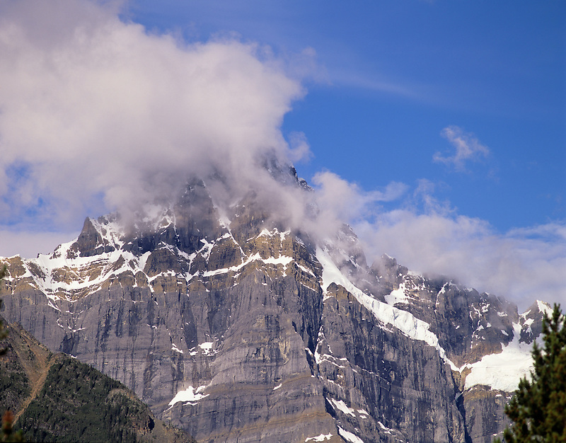 Peak in Canadian Rockies