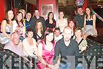 Party Time: Helping Michelle Nolan, Duagh (seated front) celebrate her 21st Birthday in Lawlors Bar, Listowel on Saturday night were front: Michelle & boyfriend Teddy McElligott.  Centre l-r: Mike Nolan, Noreen Fitzmaurice, Linda Walsh, Thomas Nolan, Caitriona McElligott,  Mary Nolan. Back l-r: Fiona Walsh, Helen Fitzmaurice, Eileen Sheahan, Tony Slemon, Joe McGarry, Amanda Lyons, Muirisa Riordan, TJ Moynihan, Deirdre Murphy...(Michelle 0857666022)