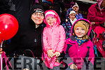 Margaret, Charlotte and Hannah Rigney, Abbeydorney, enjoying Tralee Christmas Parade on Saturday.