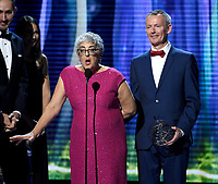 MOUNTAIN VIEW, CA - DECEMBER 3: Winner for Plant Growth, Joanne Chory appears on the 6th Annual Breakthrough Prize at NASA Ames Research Center on December 3, 2017 in Mountain View, California. (Photo by Frank Micelotta/NatGeo/PictureGroup)