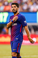 EAST RUTHERFORD, EUA, 22.07.2017 - JUVENTUS-BARCELONA - Luiz Suarez do Barcelona (ESP) durante partida contra a Juventus (ITA) valido pela Internacional Champions Cup no MetLife Stadium na cidade de East Rutherford nos Estados Unidos neste sábado, 22. (Foto: William Volcov/Brazil Photo Press)
