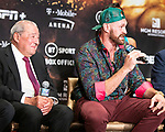 Boxer Tyson Fury  at news conference at MGM Grand Hotel & Casino on September 11, 2019 in Las Vegas, Nevada. Fury will meet Otto Wallin in a heavyweight bout on September 14 at T-Mobile Arena
