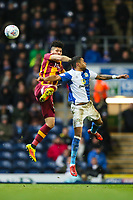Nathaniel Knight Percival of Bradford City and Dominic Samuel of Blackburn Rovers during the Sky Bet League 1 match between Blackburn Rovers and Bradford City at Ewood Park, Blackburn, England on 29 March 2018. Photo by Thomas Gadd.