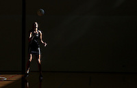 24.10.2015 Silver Ferns Leana de Bruin in action during the Silver Ferns training head of their netball test match against the Australian Diamonds in Melbourne. Mandatory Photo Credit ©Michael Bradley.