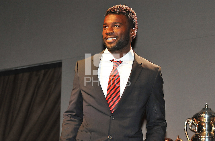 Brandon McDonald of D.C. United during the 11th Annual Kickoff luncheon, at The Hamilton Live DC in Washington DC , Tuesday March 5, 2013.