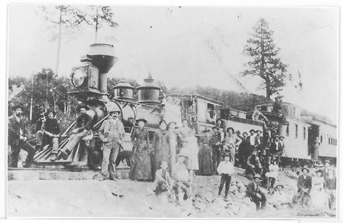 First RGS excursion train to end-of-line at Hesperus in 1891.<br /> RGS  Hesperus, CO  Taken by Edwards, Mrs. Thomas - summer 1891