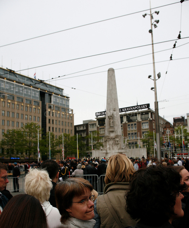 Woman at Dam Square, WW2 Remembrance Day Ceremony in Amsterdam May 4th 2009. The Dutch Queen Beatrix attended, under heavy security and sniper cover following an attempted attack on the Royal Family on Queens Day in Apeldoorn