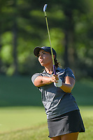 Cheyenne Woods (USA) watches her tee shot on 3 during round 1 of the 2018 KPMG Women's PGA Championship, Kemper Lakes Golf Club, at Kildeer, Illinois, USA. 6/28/2018.<br /> Picture: Golffile | Ken Murray<br /> <br /> All photo usage must carry mandatory copyright credit (&copy; Golffile | Ken Murray)