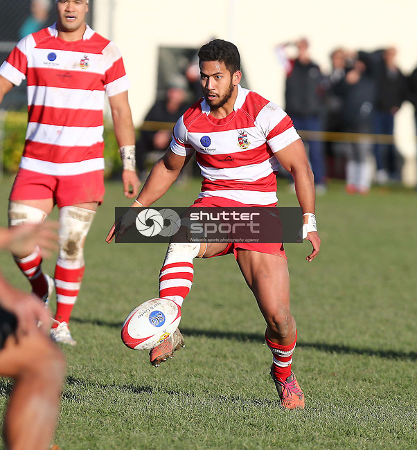 NELSON, NEW ZEALAND - June 13 : Tasman Trophy Final: Waimea Old Boys v Wanderers June 13th, 2015 in Richmond, Nelson, New Zealand. (Photo by: Evan Barnes Shuttersport Limited)