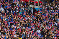 PARIS,  - JUNE 16: Fans cheer from the stands during a game between Chile and USWNT at Parc des Princes on June 16, 2019 in Paris, France.