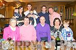 60th Birthday: Michael O'Callaghan, Tournafulla,( second left front) celebrating his 60th birthday jwith family at Leane's Hotel, Abbeyfeale on Sunday last. Front: Bridget & Michael O'Callaghan, Diarmuid O'Callaghan, Aileen Collins & Kieran O'Callaghan. Back: Cian O'Callaghan, Amanda Glasper, Martin O'Callaghan & Jack, Ollie O'Callaghan & Shaemus O'Callaghan.
